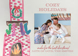 cozy-holiday-photo-card-watercolor-fireplace-christmas-stockings-home-for-the-holidays