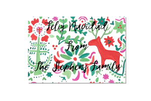 Holiday Otomi Stationery - Old Southern Charm