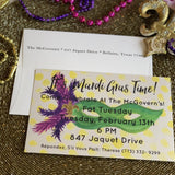 Mardi Gras Masquerade Invitation || Mardi Gras Celebration Invitations - Old Southern Charm