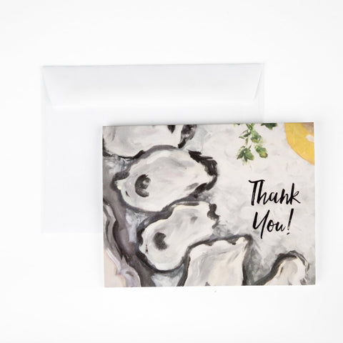 Oysters on Ice Stationery || Southern Cocktail Party Inspired Thank You Notes - Old Southern Charm