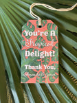 Palm Beach Leaves Gift Tags  || Greenery Inspired Enclosure Cards - Old Southern Charm