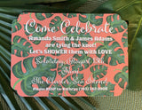 Palm Beach Leaves Invitations || Greenery Inspired Invitations - Old Southern Charm