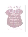 Baby Girl Shower Invitations || Baby Girl Gown Invitations