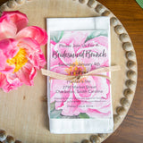 Pretty Pink Peony Invitation || Floral Bridesmaids Shower || Bridal Brunch || Spring Garden Party - Old Southern Charm