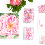 Pretty Pink Peony Stationery || Bridal Brunch Thank You Notes || Wedding Shower Floral Stationery - Old Southern Charm