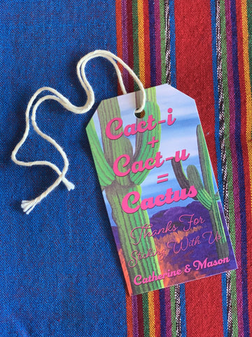 Prickly Pair Cactus Inspired Gift Tags || Southwestern Desert Theme Enclosure Cards - Old Southern Charm