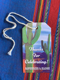 Prickly Pair Cactus Inspired Gift Tags || Southwestern Desert Theme Enclosure Cards