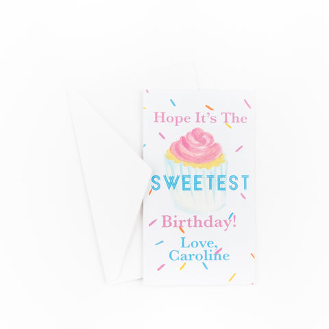 Gift Tag / Enclosure Card with Envelope - Confetti Cupcake - Old Southern Charm