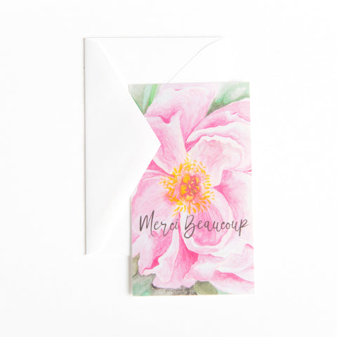 Gift Tag / Enclosure Card with Envelope - Pretty Peony - Old Southern Charm