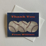 Printed Baseball Theme Thank You Notes & Notecards