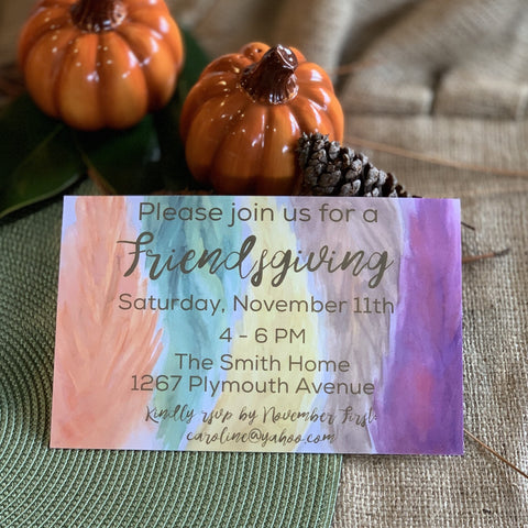 Light as a Leaf Invitation || Fall Inspired Invitations - Old Southern Charm
