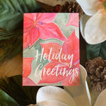 Christmas Poinsettia Stationery || Pink Poinsettia Thank You Notes - Old Southern Charm