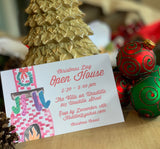 Holiday Hearth Invitation - Old Southern Charm