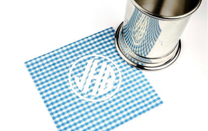 Blue Gingham Napkins With Monogram - Old Southern Charm