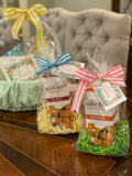 Sweet and Savory: Easter Themed Gift Set || Cheese Straw Crackers with Floral Border Gift Tag