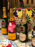 Painted Champagne Bottle - Old Southern Charm
