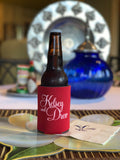 Personalized Red and White Can Huggers || Custom Coozies - Old Southern Charm
