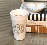Personalized and Monogrammed Cups || Styrofoam, Stadium, and Frosted Acrylic Cups