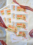 Personalized Gingerbread House Large Sticker Gift Tag || Custom Santa Stickers || Christmas Themed Name Tags