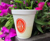 Personalized and Monogrammed Cups - Styrofoam, Stadium, and Frosted Acrylic Cups Available - Old Southern Charm