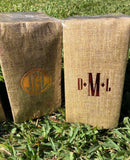 Personalized Burlap Design Guest Napkins || Monogrammed Paper Hand Towels || Custom Ranch Themed Napkins