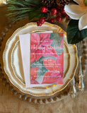 Christmas Poinsettia Invitation || Christams Floral Invitation - Old Southern Charm