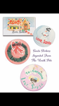 Snowman Large Gift Tag Stickers || Customizable Santa Present Stickers