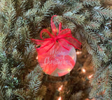 Christmas Poinsettia Ornament || Floral Christmas Ornament - Old Southern Charm