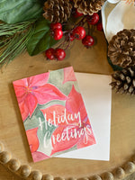 Christmas Poinsettia Stationery - Old Southern Charm