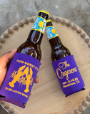 Personalized Purple and Gold Can Huggers || Custom Coozies - Old Southern Charm