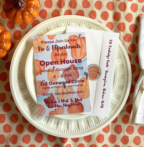 Pumpkin Party Invitation || Fall Inspired Invitations - Old Southern Charm