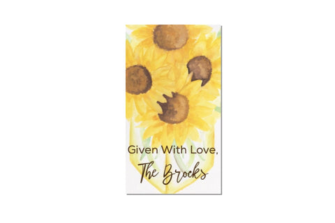 Sunny Day Sunflowers Gift Tags || Summer Floral Enclosure Card - Old Southern Charm