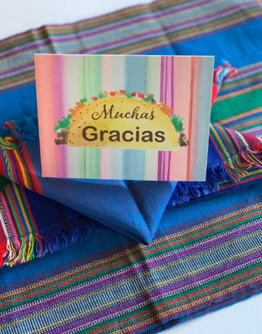 Taco Fiesta Stationery || Mexican Fiesta Inspired Thank You Notes - Old Southern Charm