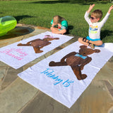 Theodore Teddy Bear Beach Towel || Teddy Bear Towel For Kids - Old Southern Charm