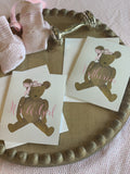 Theodora Teddy Bear Stationery || Girl Teddy Bear Thank You Notes - Old Southern Charm