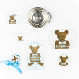 Theodore Teddy Bear Gift Tag || Boy Teddy Bear Enclosure Card - Old Southern Charm