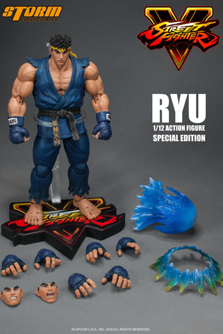 Storm Collectibles 1:12 Street Fighter V - RYU (Limited Player 2 Blue Color) Figure