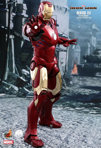 "Hot Toys ""Iron Man"" Iron Man Mark III Deluxe Version 1/4 Scale Figure"