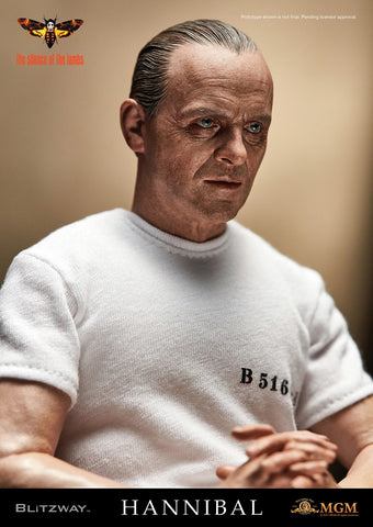 "1/6 ""The Silence of the Lambs"" - Hannibal Lecter (White Prison Uniform ver.) Collectible Figure"