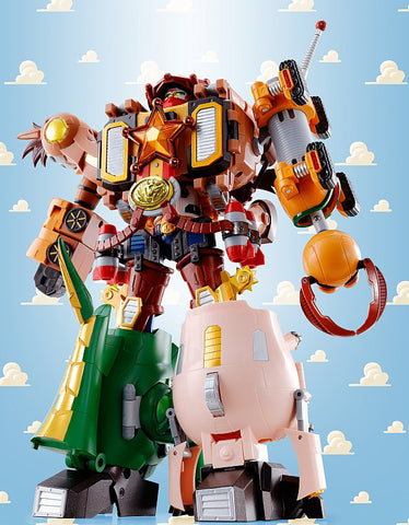 "Chogokin ""Toy Story"" Combination Woody Robo Sheriff Star by Bandai"