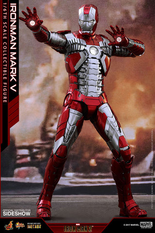 "Hot Toys ""Iron Man 2"" Mark V Die-Cast 1/6 Figure"