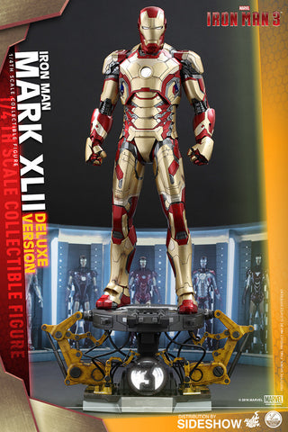 "Hot Toys ""Iron Man 3"" Iron Man Mark XLII Deluxe Version 1/4 Scale Figure"
