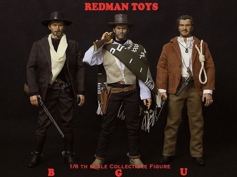 Redman Toys - The Good, The Bad, & The Ugly 1/6 Figure Set