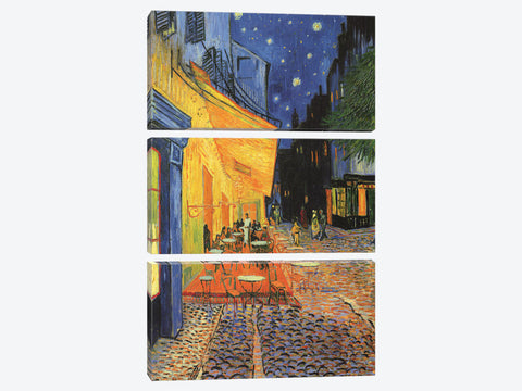 "The Cafe Terrace on the Place du Forum Cafe Terrace at Night 1888 by Vincent van Gogh Canvas Print 26"" L x 40"" H x 0.75"" D"