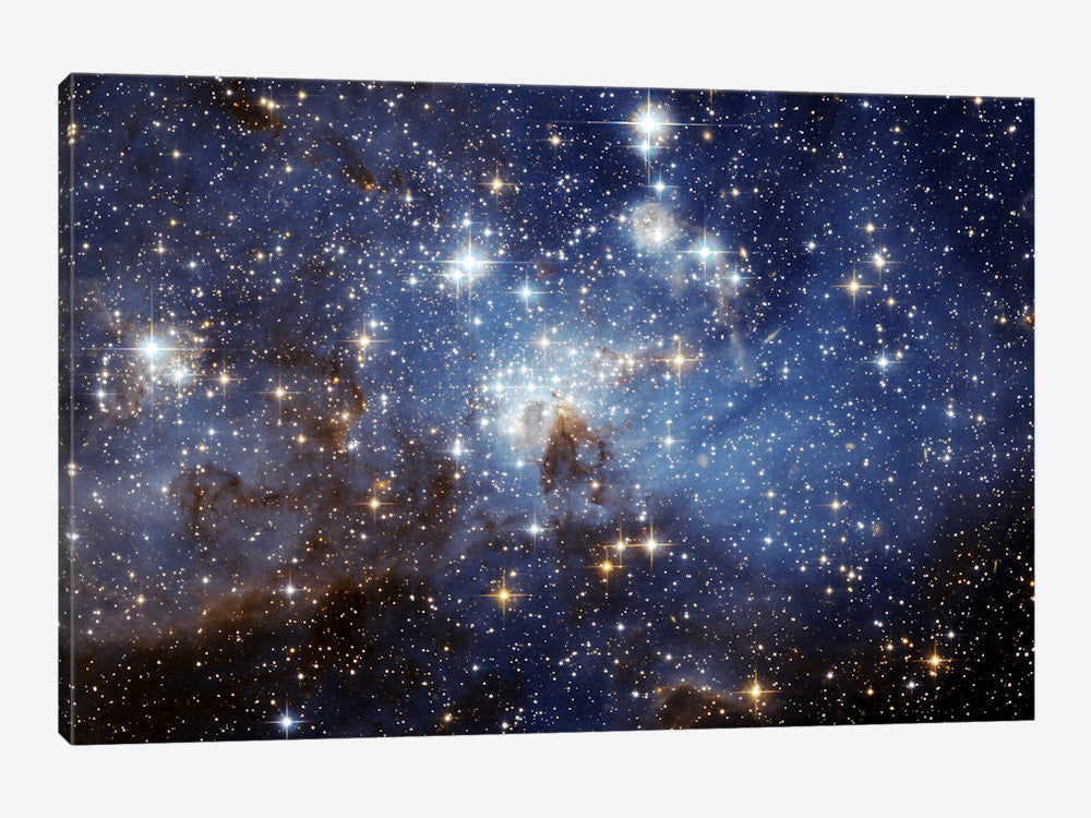 "LH95 Stellar Nursery Hubble Space Telescope by NASA Canvas Print 60"" L x 40"" H x 1.50"" D - eWallArt"