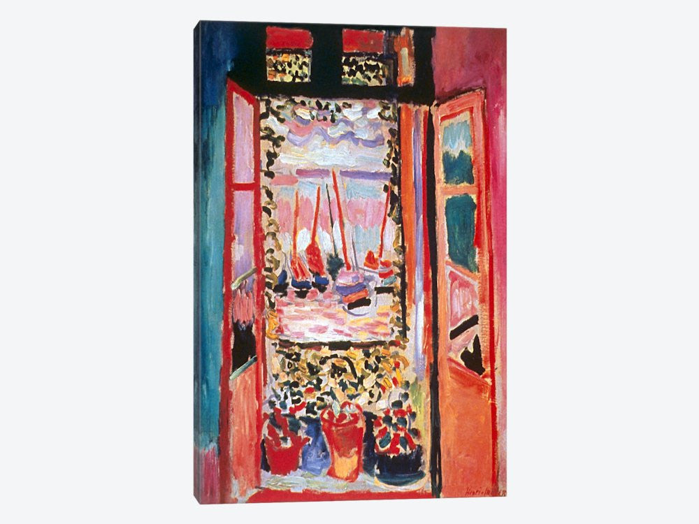"Open Window at Collioure 1905 by Henri Matisse Canvas Print 40"" L x 60"" H x 1.50"" D - eWallArt"