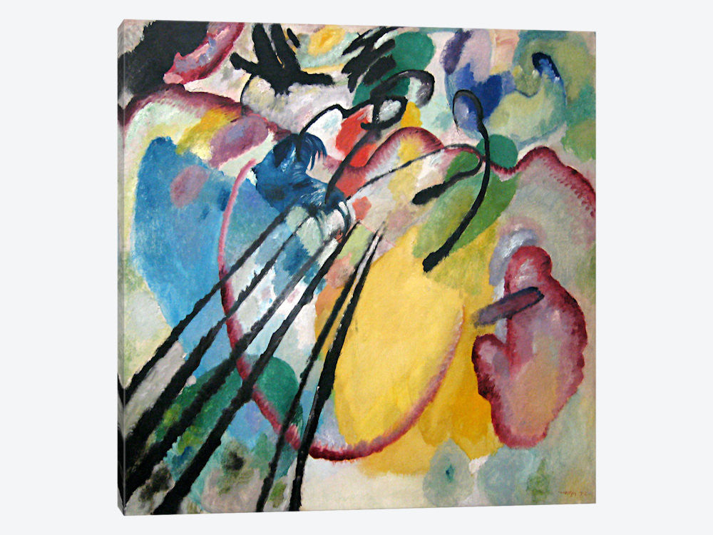 Strings  by Wassily Kandinsky   Giclee Canvas Print Repro
