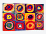 Squares with Concentric Circles by Wassily Kandinsky Canvas Print 40