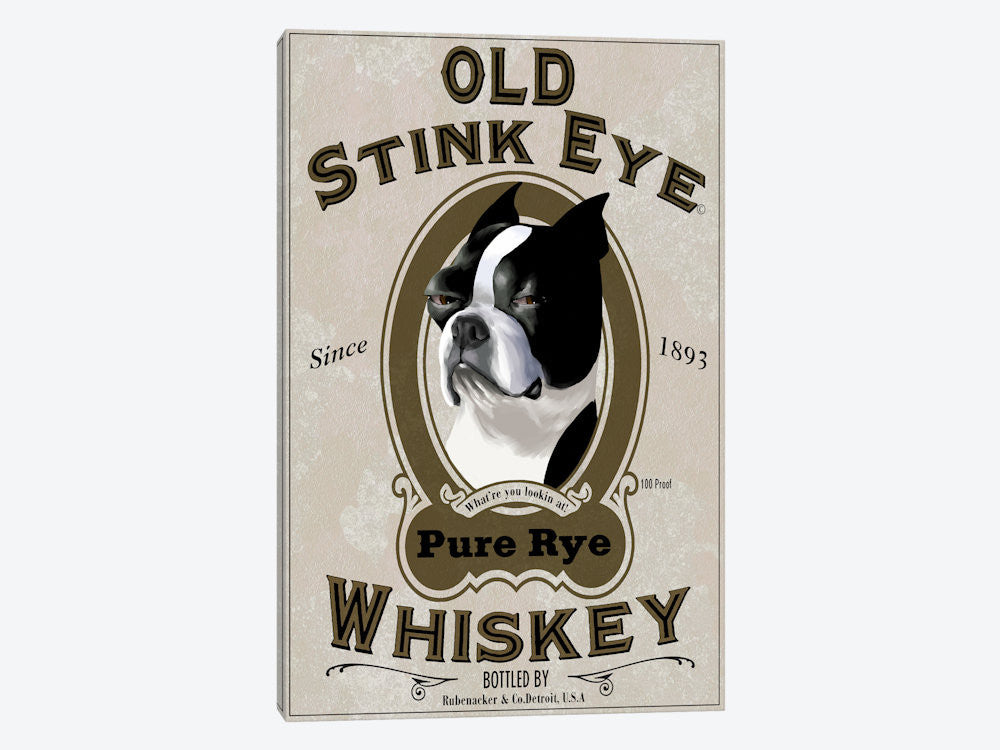 "Old Stink Eye Whiskey by Brian Rubenacker Canvas Print 18"" L x 26"" H x 0.75"" D - eWallArt"