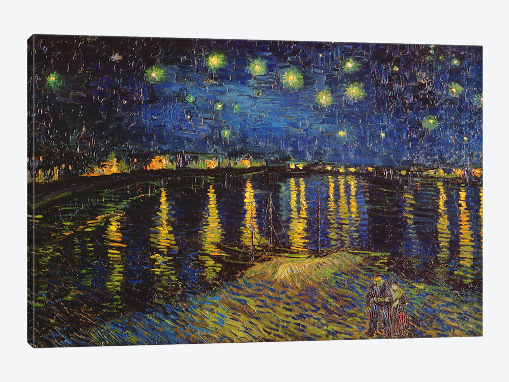 "Starry Night Over The Rhone by Vincent van Gogh Canvas Print 26"" L x 18"" H x 0.75"" D - eWallArt"